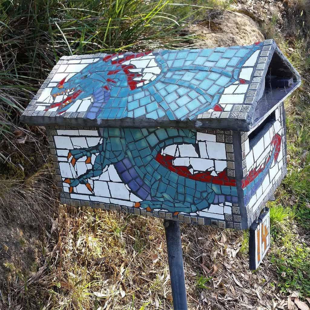Mosaic dragon letterbox
