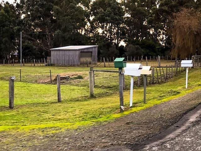 Rural Tasmanian letterboxes