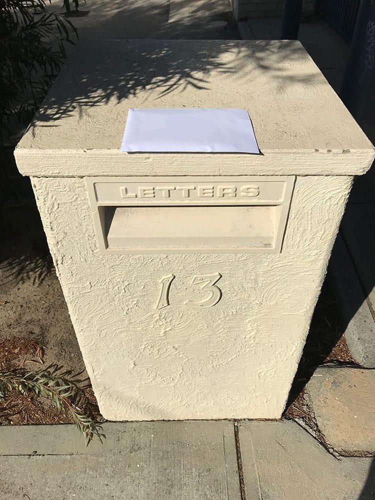 Perth letterbox