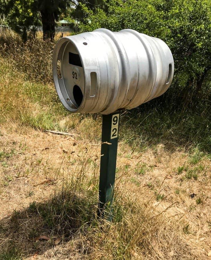 Beer keg letterbox