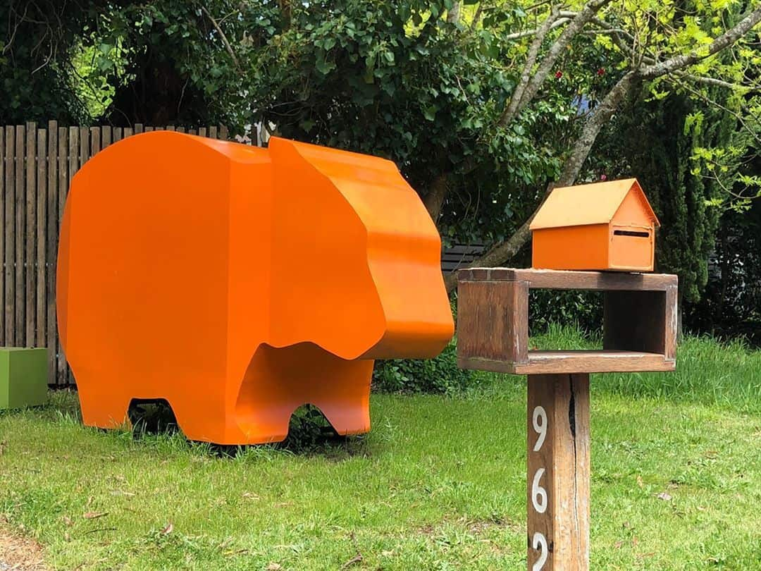 Bear with matching letterbox⁠